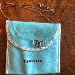 Authentic Tiffany & Co. Interlocking Oval Pendant
